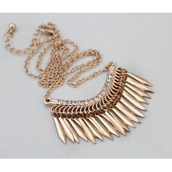 AN84-1 Gold Long Tassel Necklace
