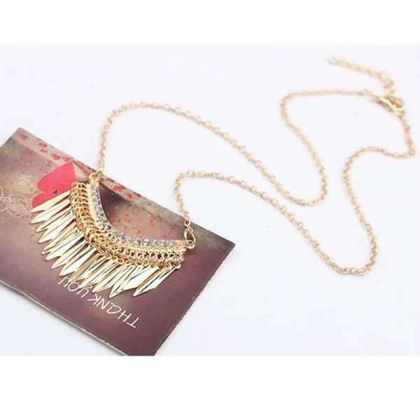 AN84- Gold Long Tassel Necklace