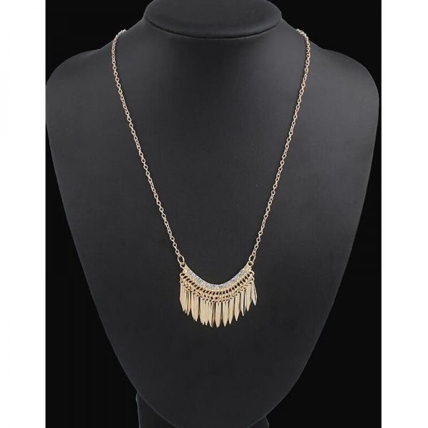 AN84– Gold Long Tassel Necklace