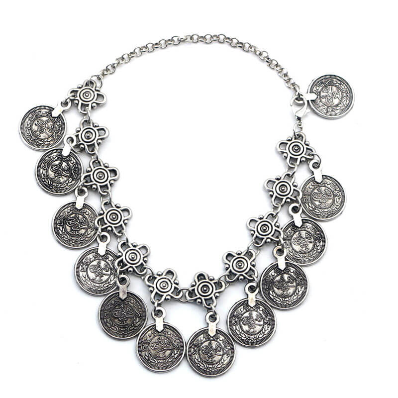 Silver Coin Anklet Adjustable Trendy