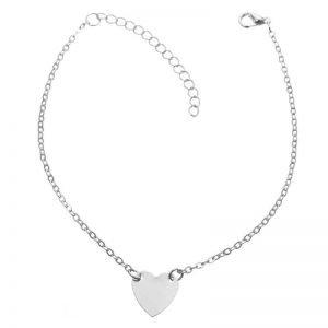 Heart Design Chain Anklet