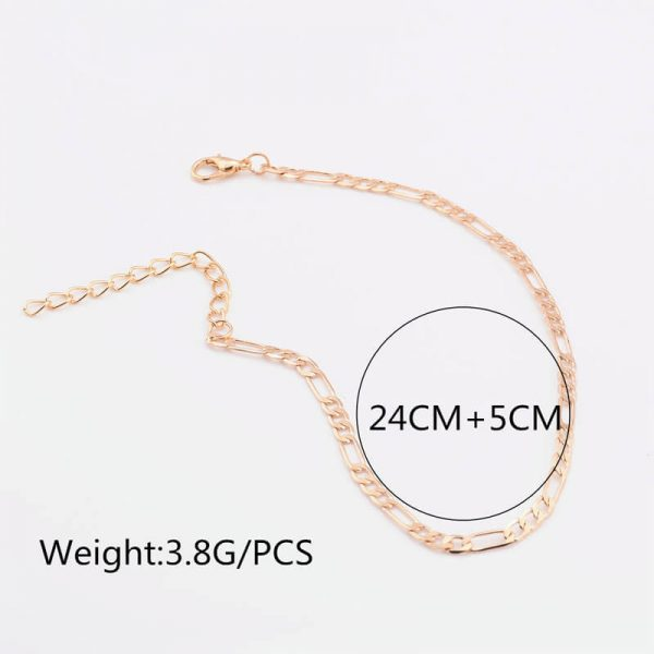 ANK13 -Gold Adjustable Chain Anklet Footwear
