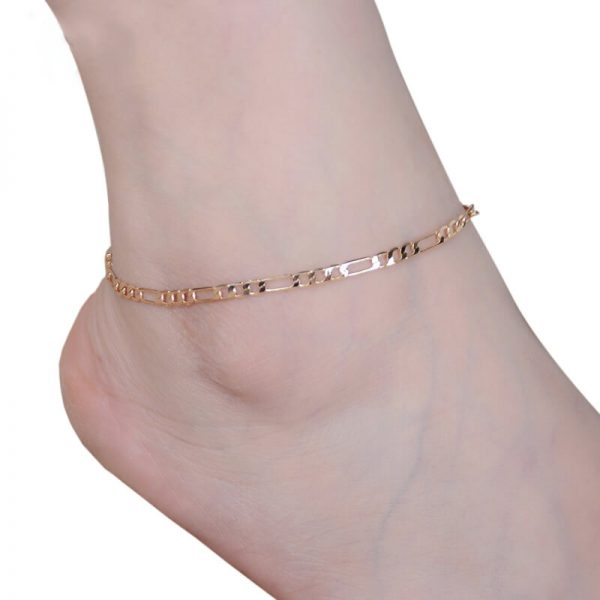 ANK13 Gold Adjustable Chain Anklet Footwear