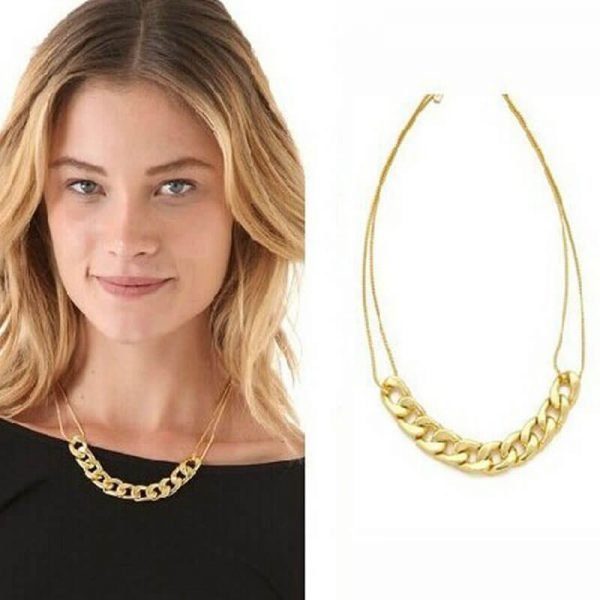 Gold Metal Trendy Necklace For Her-