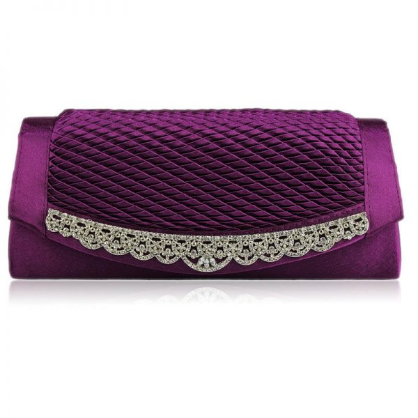 Gorgeous Purple Crystal Clutch Evening Bag – LSE00131 (2)