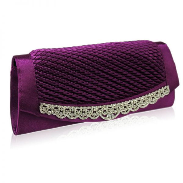 Gorgeous Purple Crystal Clutch Evening Bag – LSE00131