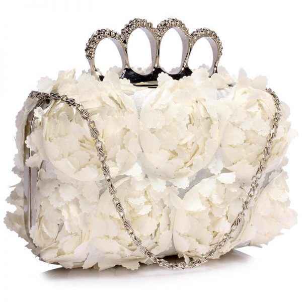 Ivory Womens Knuckle Rings Evening Bag – LSE00145