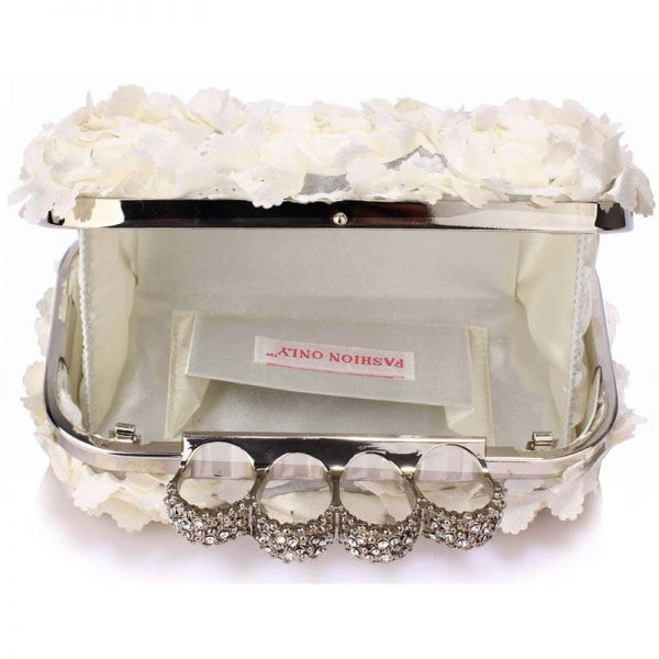 Ivory Womens Knuckle Rings Evening Bag – LSE00145(2)