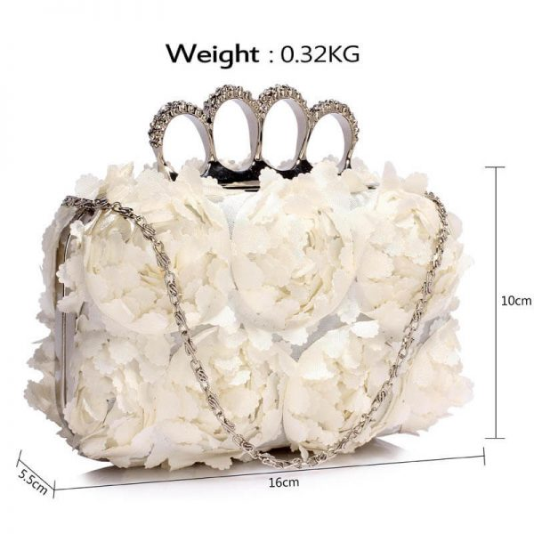 Ivory Womens Knuckle Rings Evening Bag – LSE00145(3)