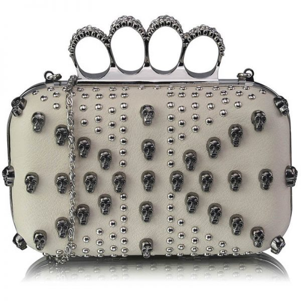 Ivory Womens Knuckle Rings Evening Bag – LSE00197