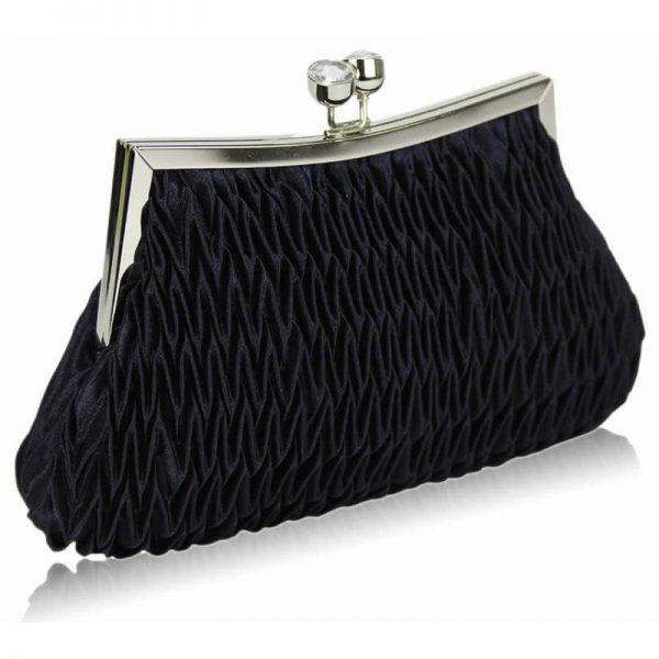 Navy Crystal Evening Clutch Bag – LSE00193-1