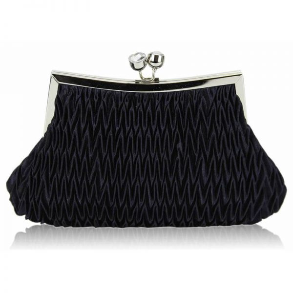 Navy Crystal Evening Clutch Bag – LSE00193