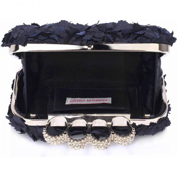Navy Womens Knuckle Rings Evening Bag – LSE00145(2)