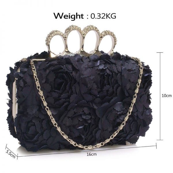Navy Womens Knuckle Rings Evening Bag – LSE00145(3)