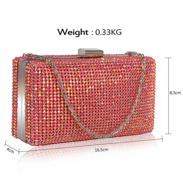 Pink Sparkly Evening Clutch – LSE00190_4_