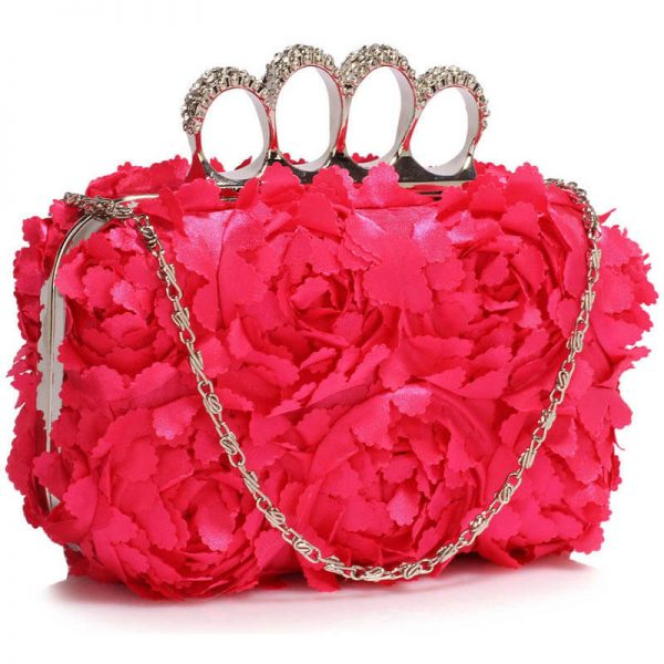 Pink Womens Knuckle Rings Evening Bag – LSE00145_(1)
