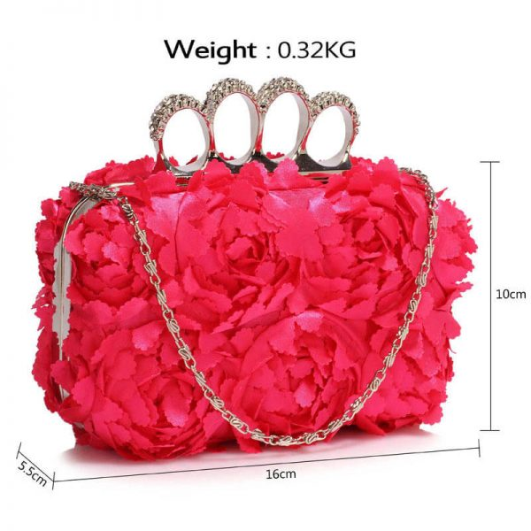 Pink Womens Knuckle Rings Evening Bag – LSE00145_(3)