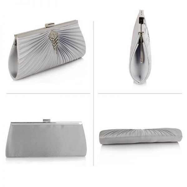 Silver Clutch Bag With Crystal Decoration – LSE00221_3_