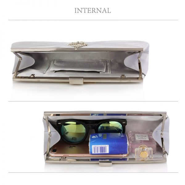 Silver Clutch Bag With Crystal Decoration – LSE00221_4_