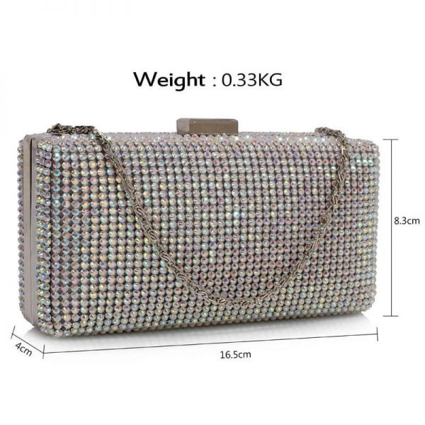 Sparkly Evening Clutch – LSE00190_AB White_