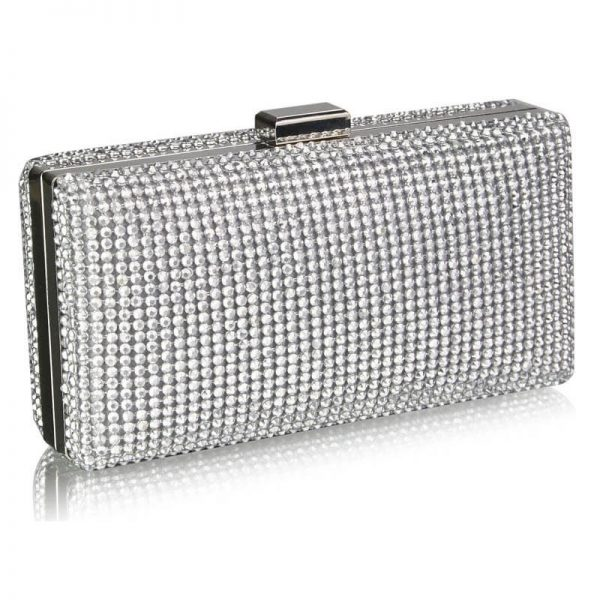 Sparkly Evening Clutch – LSE00190_Silver-1