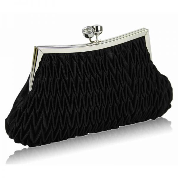 black Crystal Evening Clutch Bag – LSE00193-1