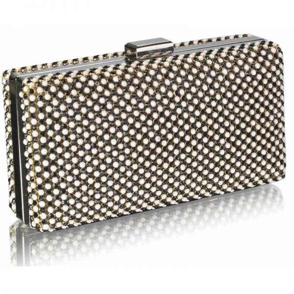 black ivory Sparkly Evening Clutch – LSE00190-1