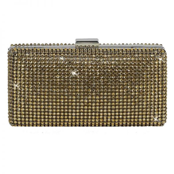 champagne Sparkly Evening Clutch – LSE00190-1