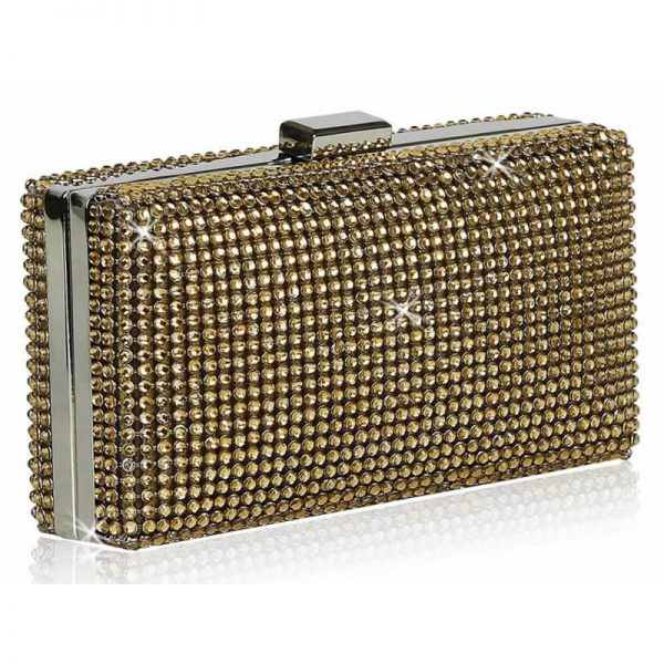 champagne Sparkly Evening Clutch – LSE00190-2