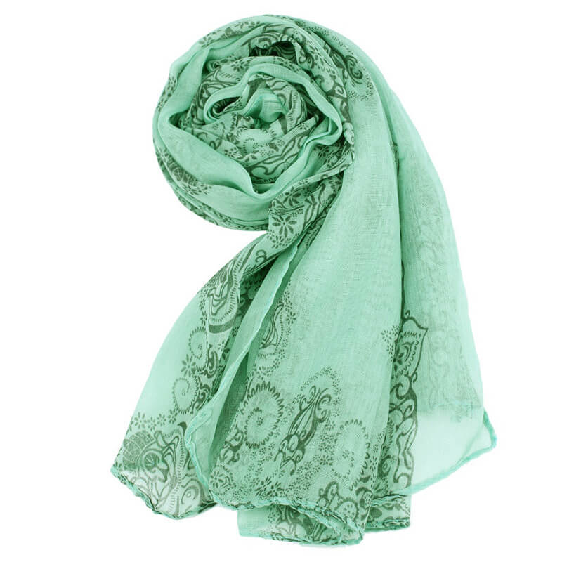 Green Voile Material Scarf For Summer ASC45
