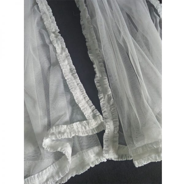 1 White Net Dupatta With Lace On 4 Sides