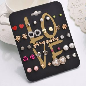 20 Pair Stud Earrings Set For Women 1