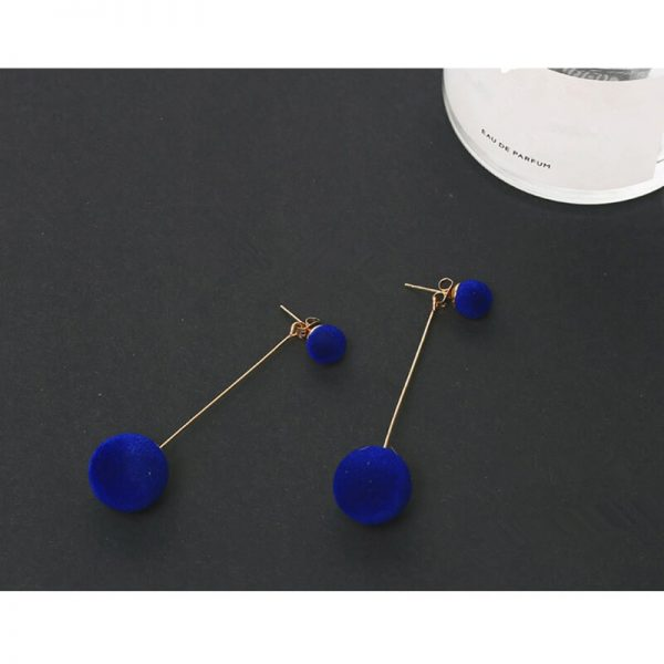 AE70 Long Ball Drop Earring – Blue