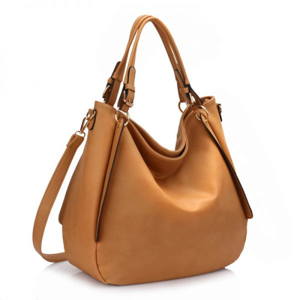 AG00448-Large Hobo Shoulder Bag – Nude