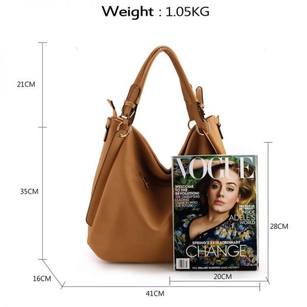 AG00448-Large Hobo Shoulder Bag – Nude_2_