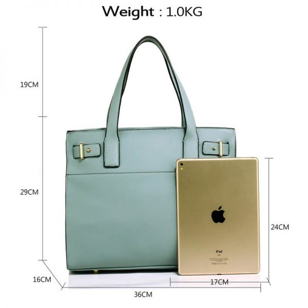 Blue Tote Shoulder Handbag For Women – AG00527_2_
