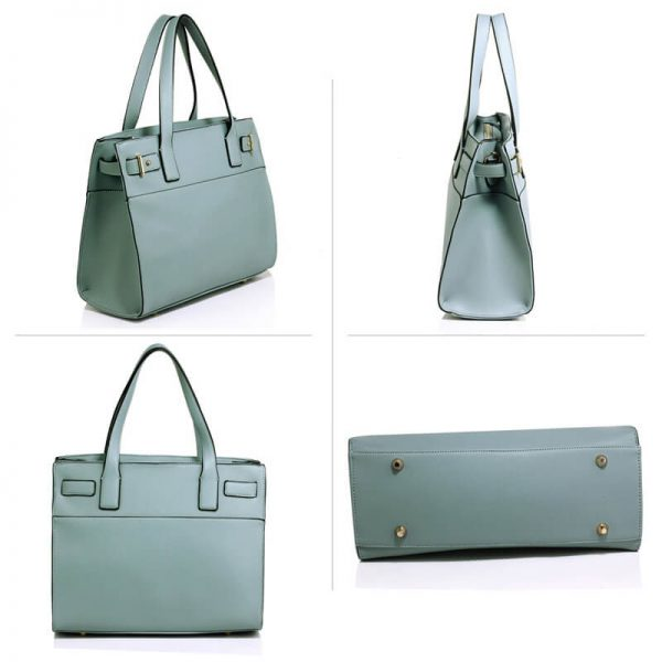 Blue Tote Shoulder Handbag For Women – AG00527_3_