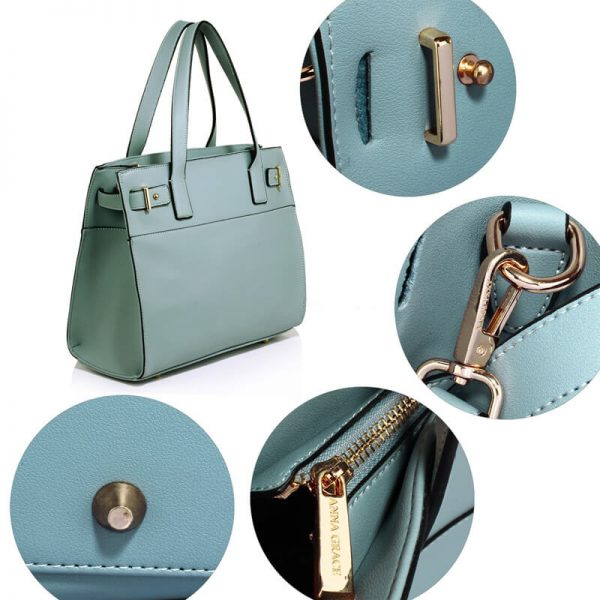 Blue Tote Shoulder Handbag For Women – AG00527_5_