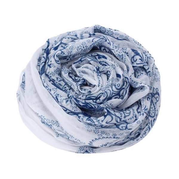 Blue Voile Material Scarf For Summer ASC44–