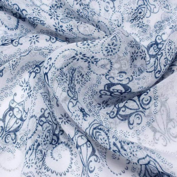 Blue Voile Material Scarf For Summer ASC44