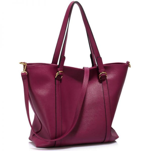 Burgundy Handbag For Women – LS00413_(6)