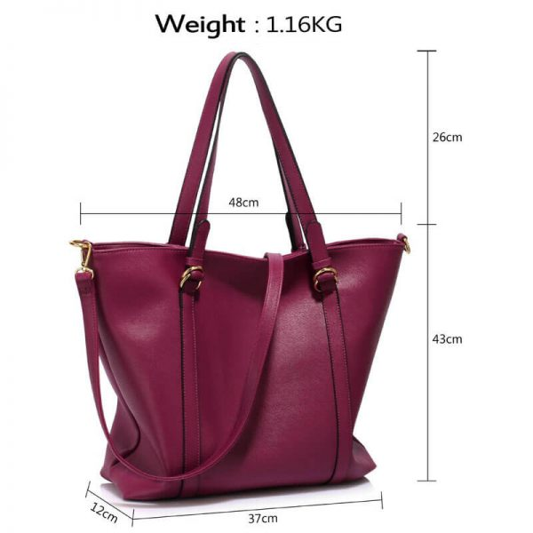 Burgundy Handbag For Women – LS00413_(8)