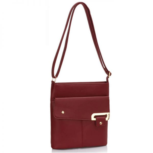 Burgundy Shoulder Cross Body Bag – LS00429-