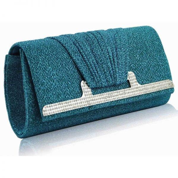 Emerald Diamante Evening Clutch Bag – LSE00238–