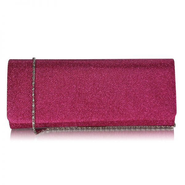 Fuchsia Evening Clutch bag LSE00247-