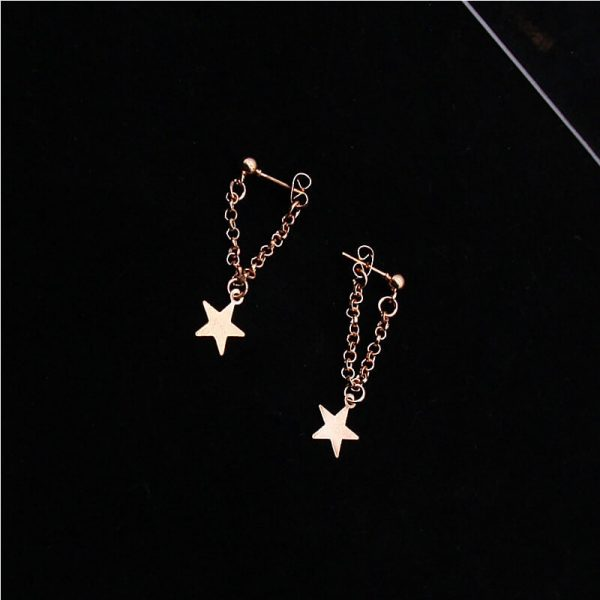 Gold Star Drop earring AE75-