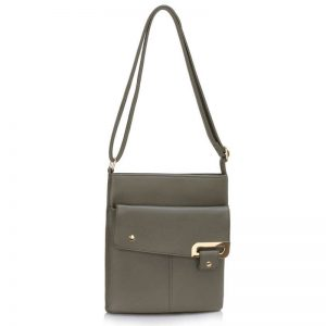 Grey Shoulder Cross Body Bag