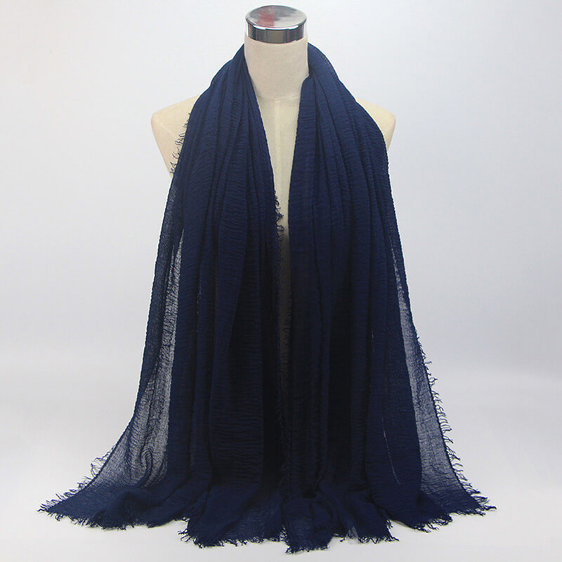 Navy Soft Scarf Large Summer Cotton Stole