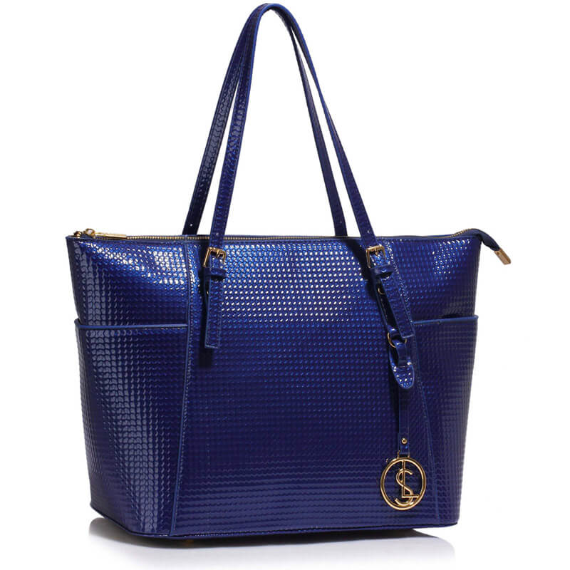 Navy Womens Large Tote Bag