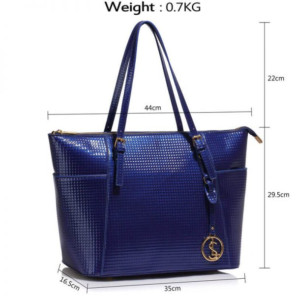 Navy Womens Large Tote Bag – LS00350A_4_